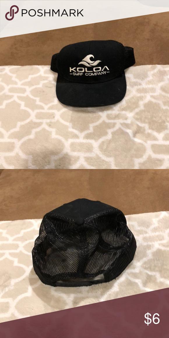 300d96f196c Koloa surf company Hawaii trucker hat Like new. Black with white writing.  Adjustable. Koloa surf company Accessories Hats