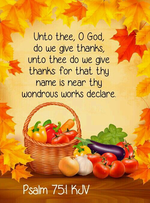 Fall Harvest Wallpaper Christian Psalm 75 1 Kjv Christian Quotes And Sayings Psalm 75