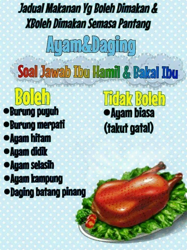 Makanan Dlm Pantang Confinement Food Food Recipes