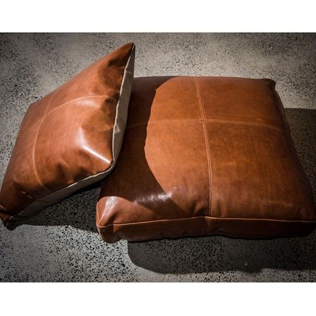 leather floor cushions