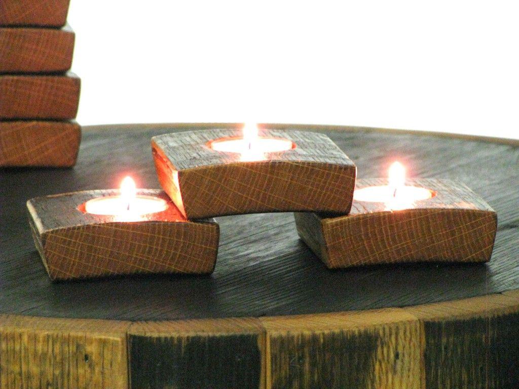 Bourbon barrel tea lights- set of 8 for $36