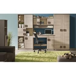 Photo of Youth room – wardrobe Elias 18, color: light brown / brown – dimensions: 187 x 45 x 40 cm (H x W x D