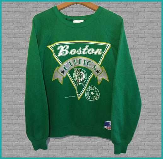 reputable site ebdc2 0fb19 Vintage Boston Celtics Crew Neck Sweatshirt - 80's ...