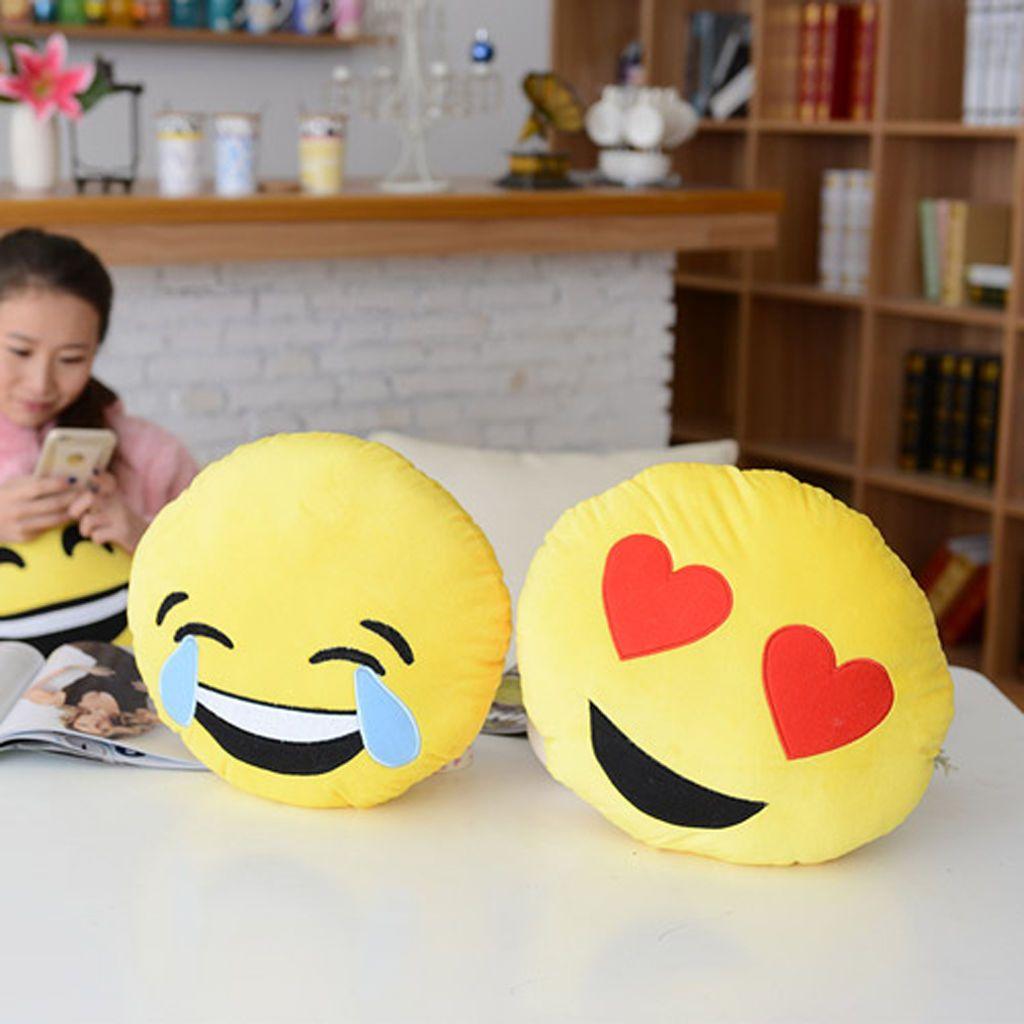 Ultra Soft Emoji Cushion Car Sofa Pillow Stuffed Plush Toy