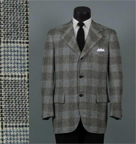 5f147e14c71cd Vintage Mens Sport Coat Norman Hilton for by jauntyrooster on Etsy, $99.00
