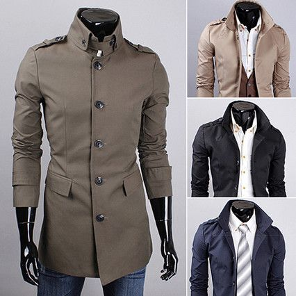 Fashion Men Military Style Slim Fit Trench Coat | Sneak Outfitters ...