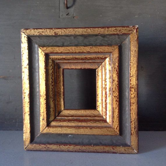 Vintage Gilded Wood Picture Frame Without Glass Vintage Picture