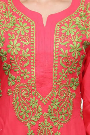 Image Result For Hand Embroidery Designs For Kurtis Neck Stitches