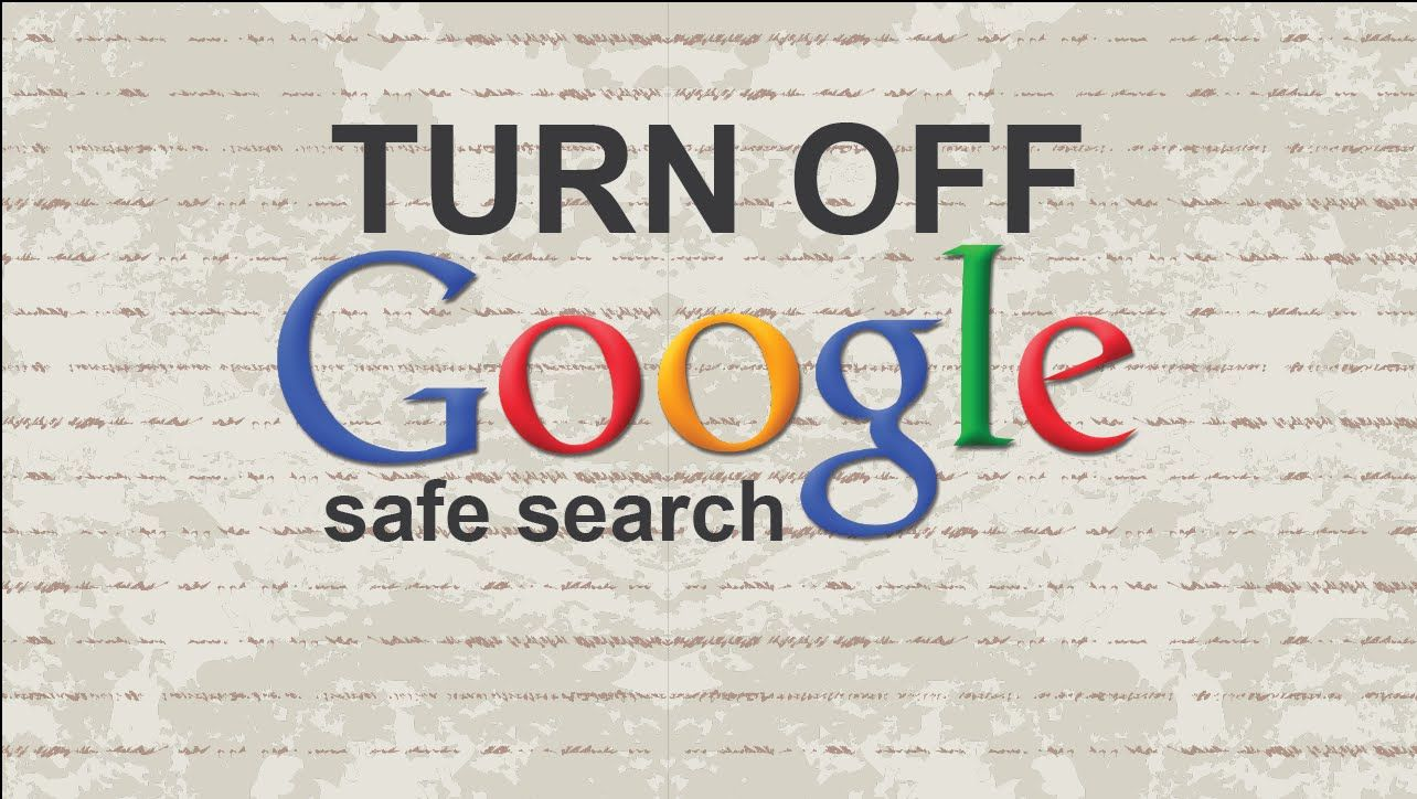 How to turn off Google safe search video youtube