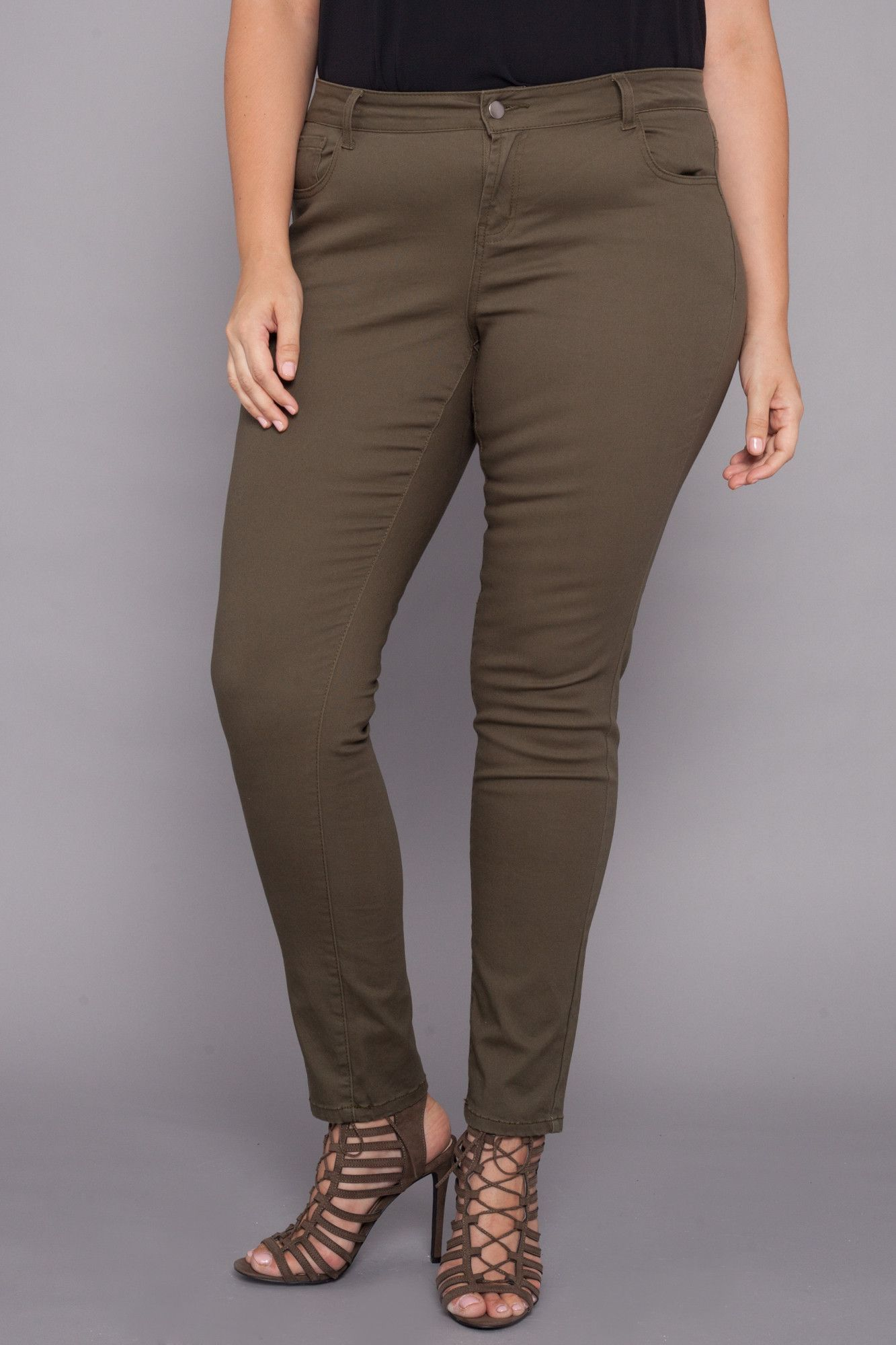 Plus Size Super Skinny Jeans - Olive | Olives, Products and Skinny ...