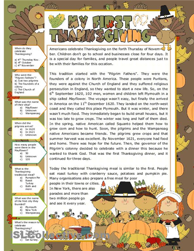 Thanksgiving Worksheets For Middle School - free ...