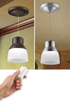 Charming Battery Powered LED Pendant Light, Instant Hang Pendant Light, No Wiring  Pendant