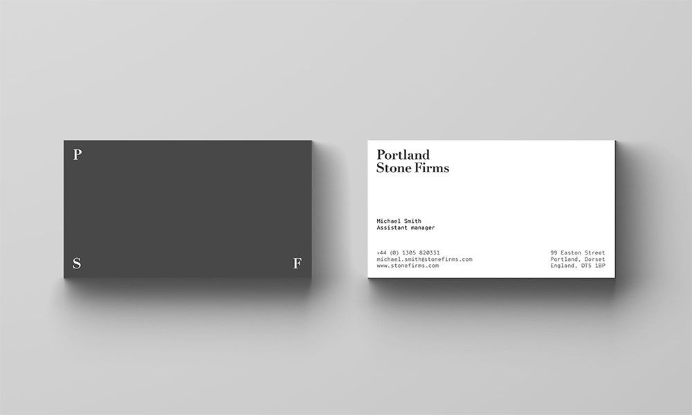 Portland stone firms business card intelligent design pinterest portland stone firms business card colourmoves
