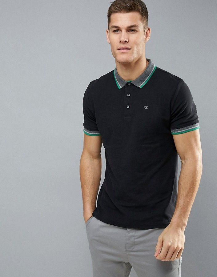 f69d7283 Calvin Klein Golf Tipped Polo | Products | Polo, Golf polo shirts ...