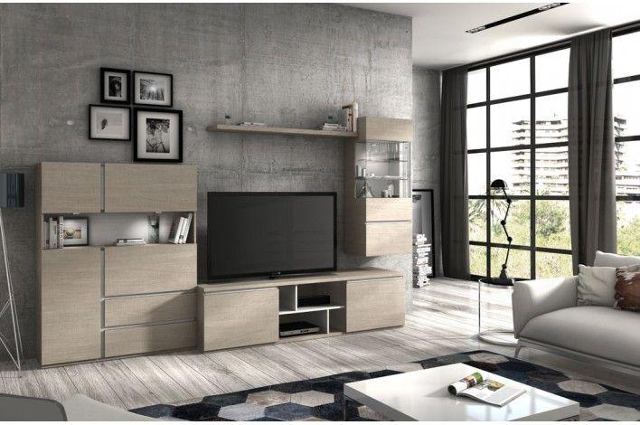 Sal n modular roble legno fresno glacial merkamueble comedor pinterest muebles - Merkamueble comedores ...
