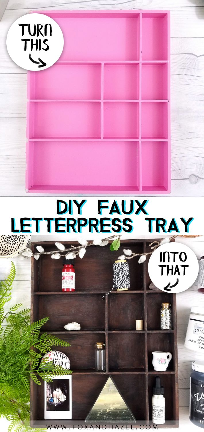 How To DIY a Faux Letterpress Tray with DecoArt