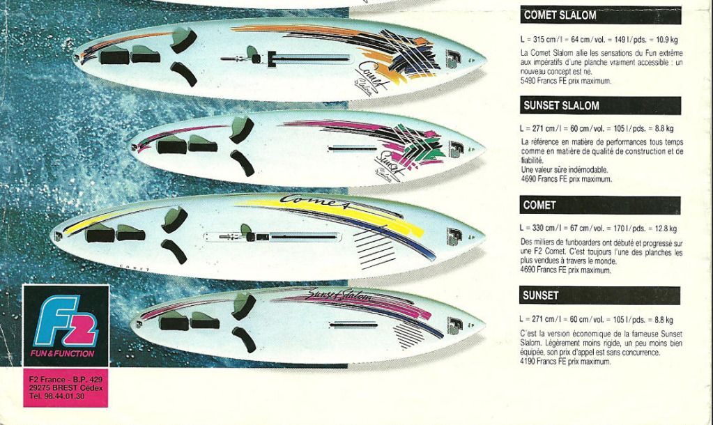 F2 WINDSURF 1990 | Sail & Surf | Windsurfing, Sup surf, Surfboard