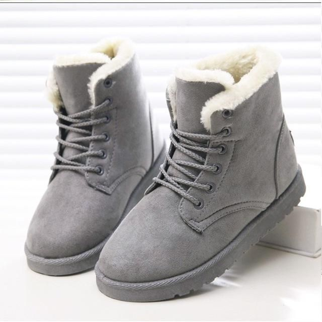 d63908b2f Women Winter Super Warm Snow Suede Ankle Boots | Products ...