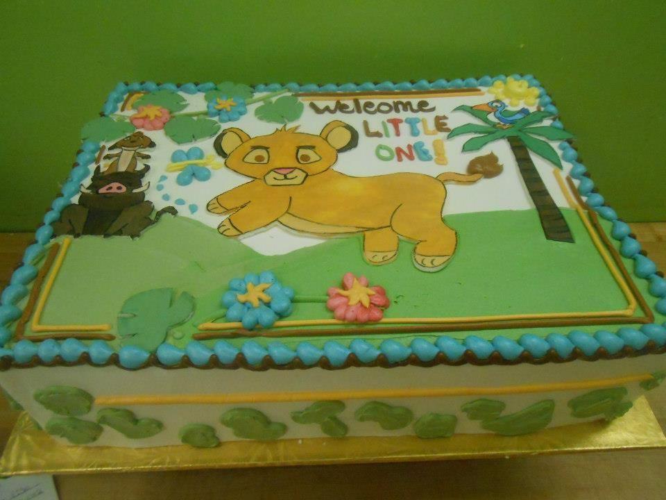 Baby Lion King Baby Shower Sheet Cake