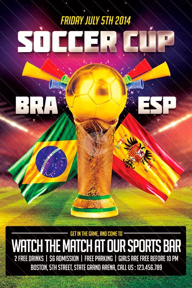 Free Flyer Soccer Cup Flyer Template -    wwwfreepsdflyer - football flyer template