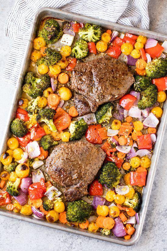 Italian Sheet Pan Steak And Veggies Recipe Sheet Pan Recipes Recipes Vegetable Recipes