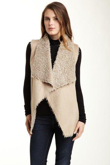 faux shearling vest.