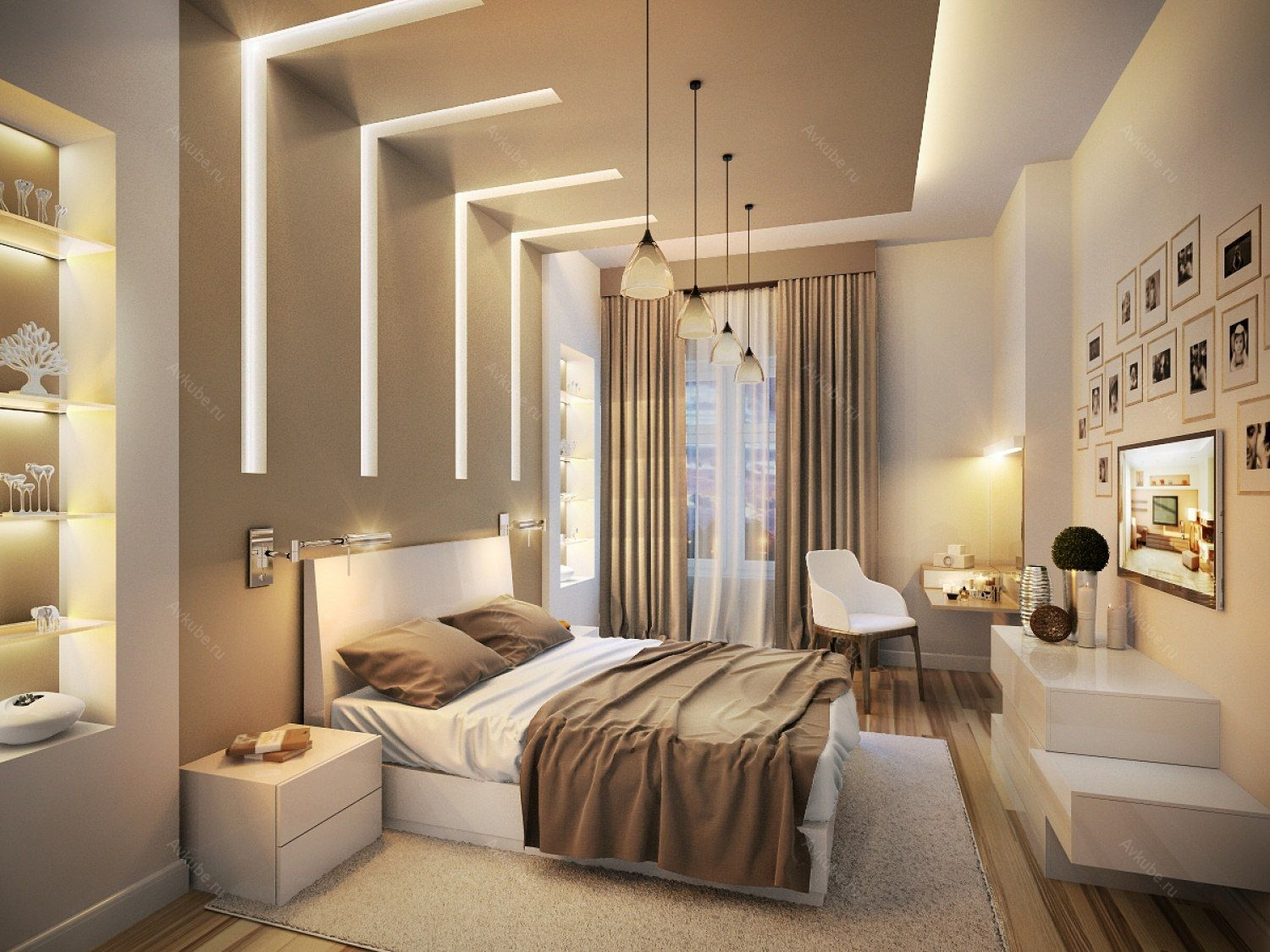 Pin by Natalie Thime on Bedroom   Bedroom false ceiling ...
