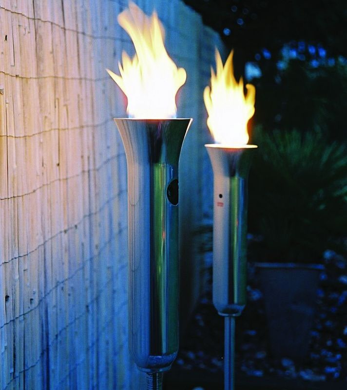 Fiji Olympic Style Aluminum Gas Tiki Torch | Tiki Torches U0026 Outdoor Patio  Torches