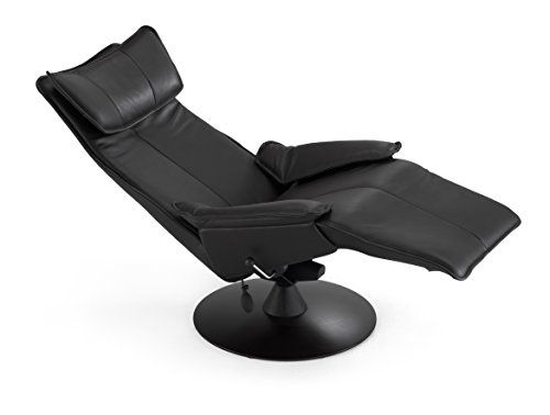 Scandinavian Fjords Contura 2010 Zero Gravity Recliner Chair in Premium Astro Line Black Leather Manual Black Base by Hjellegjerde - In-Home White Glove Delivery and Setup *** Click image for more details.