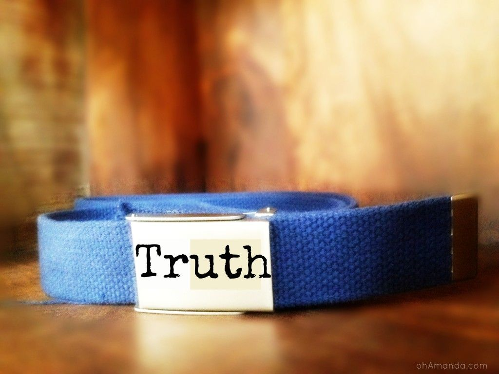 armor of god belt of truth activity train up a child
