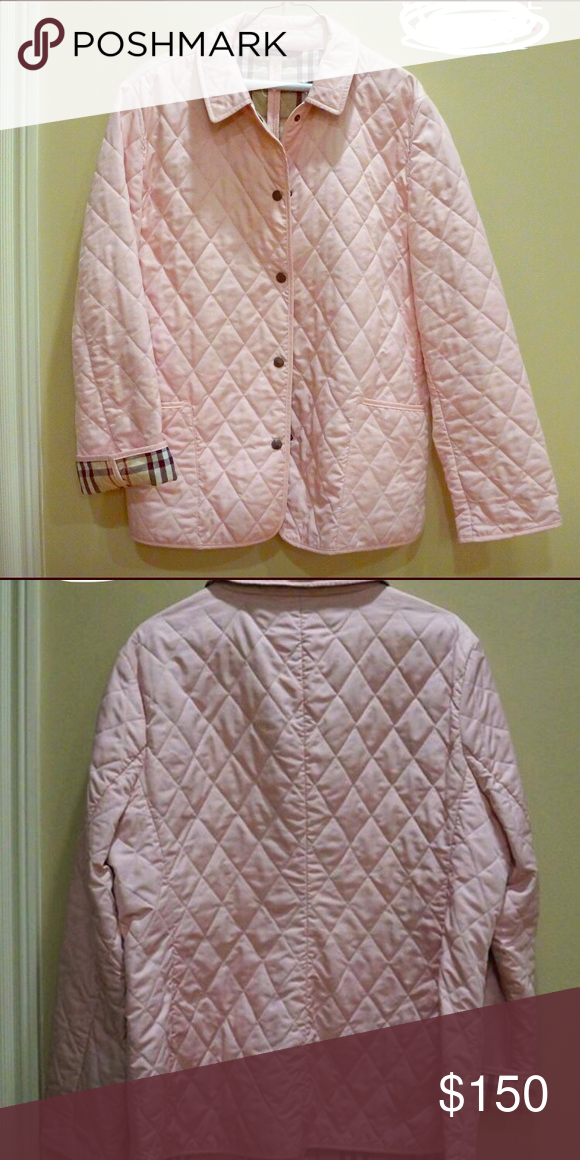 Burberry Quilted Coat Light Pink In Great Condition 100 Authentic Price Is Firm Burberry Jackets Coats Quilted Coat Clothes Design Burberry Jacket