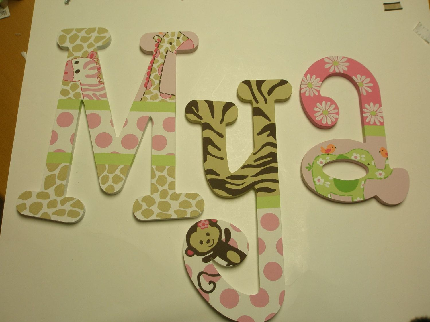 Jungle Jill Letters - wooden wall letters - custom - hand painted ...