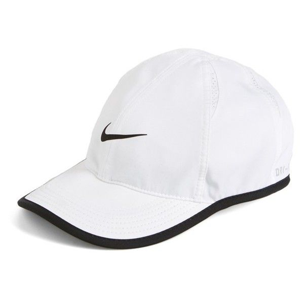 87da22c5d8680 Nike Feather Light Dri-FIT Cap ( 24) ❤ liked on Polyvore featuring  accessories