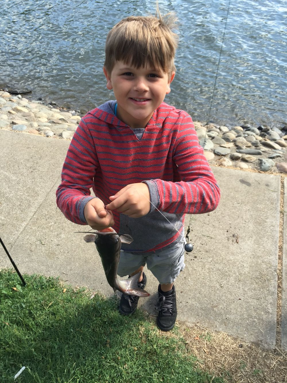 Jakes catch at the Ellis lake youth fishing derby. Look at that cute little face :)