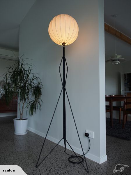 An original john crichton mid century atomic lamp trade me