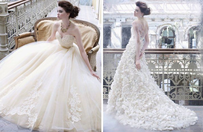 romantic fall 2012 wedding dresses Lazaro bridal gown buttery cream ivory