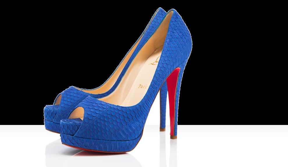 blue Louboutins