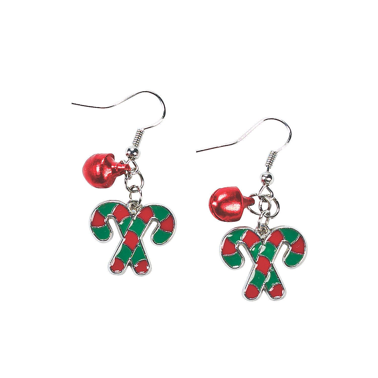 Candy Cane Earrings  Orientaltrading