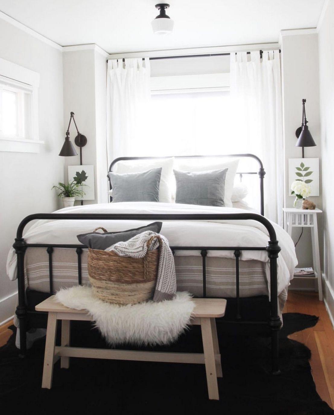 30 Spectacular Industrial Bedroom Decor Ideas Small Guest Bedroom Small Apartment Bedrooms Small Master Bedroom