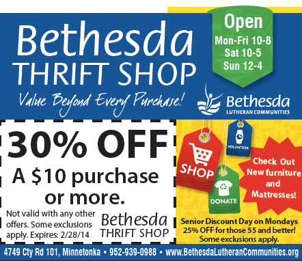 Get 30 Off Clothes House Wares Furniture And More At Minnetonka Bethesda Thrift Shop With This Deal Thriftsh Senior Discounts Thrift Shopping Thrifting