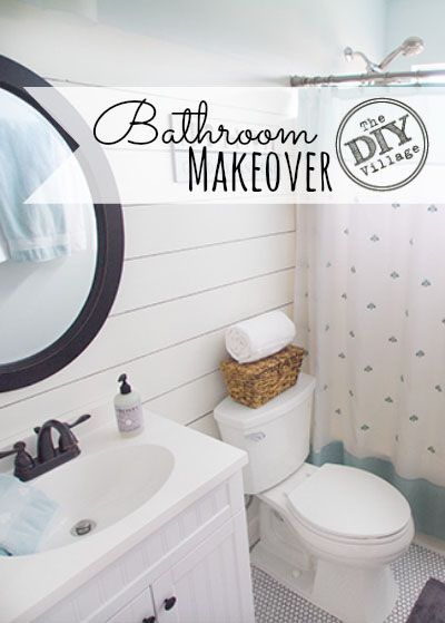 Guest Bathroom Update A Paint Refresh The Diy Village Small Bathroom Makeover Bathroom Makeover Bathroom Makeovers On A Budget