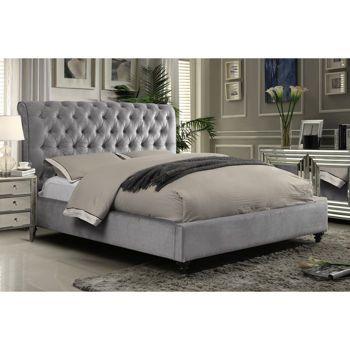 Victoria Grey Upholstered Bed Girls Room idea Pinterest Grey