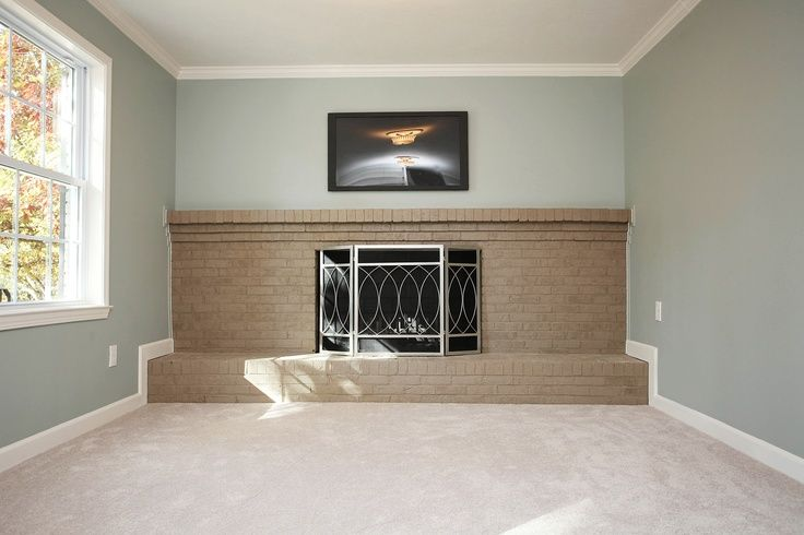 Sherwin Williams Silvermist The Mantle In Our Living Room Is Like This But With Red Brick