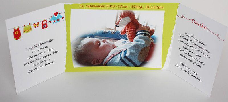Einladungskarten   Karte Zur Geburt *Wäscheleine*   Ein Designerstück Von  Druckkopf Bei DaWanda