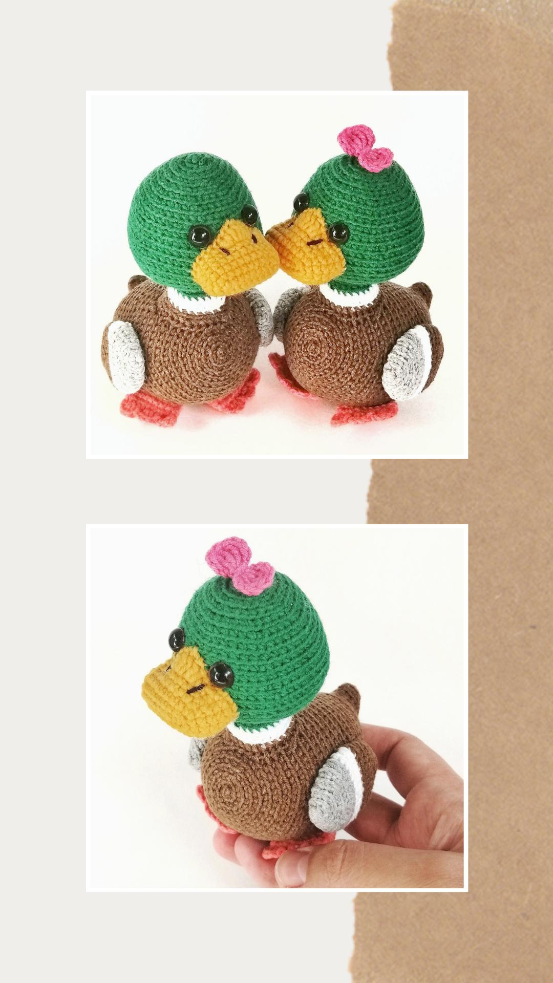 CROCHET PATTERN ducks - amigurumi duck - PDF crochet pattern with Instant Download - Easy to ...