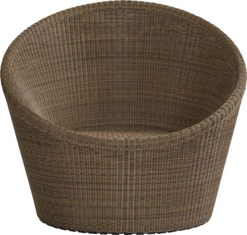Calypso Mocha Swivel Lounge Chair  | Crate and Barrel - way too expensive but love the look (egg chair)