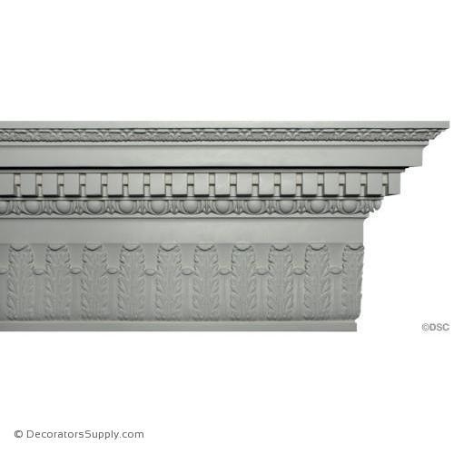 Plaster Crown Colonial 14 Drop X 5 7 8 Proj Decorators Supply