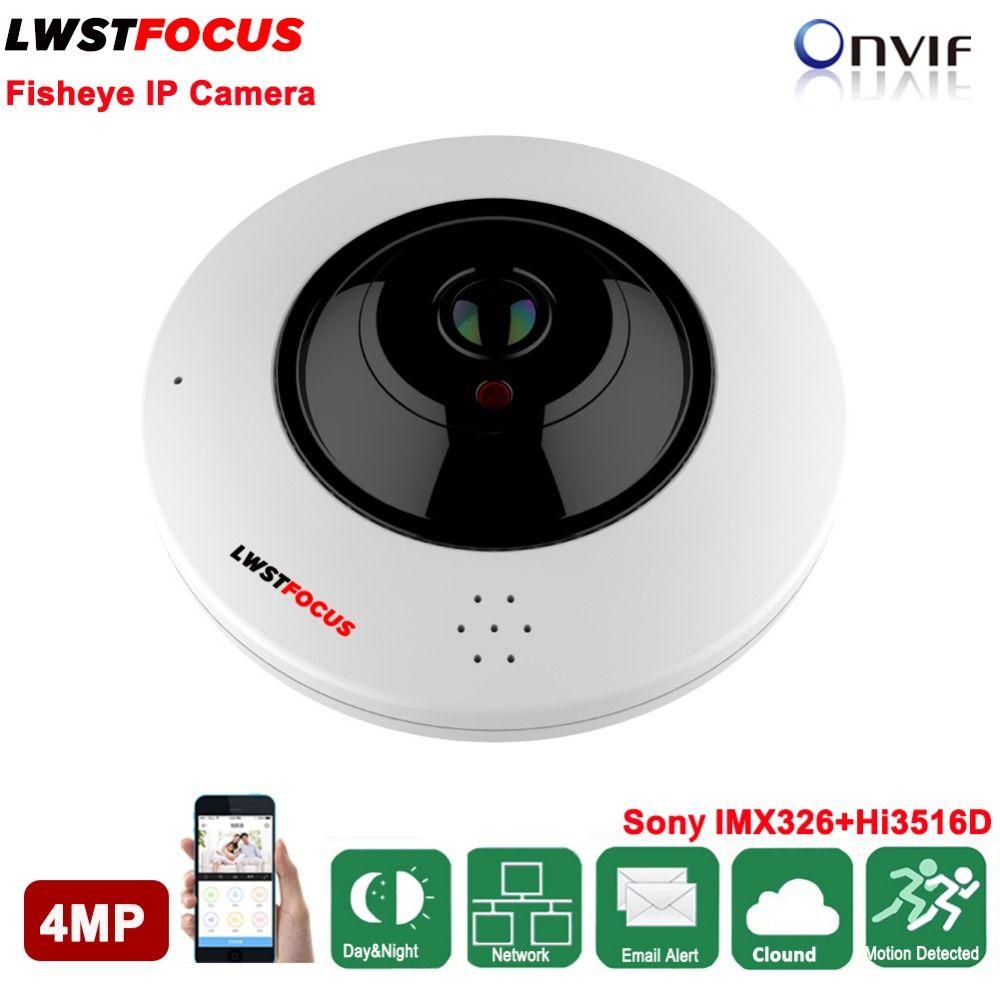 4MP Fisheye IP camera Sony IMX326 360 Degree Mini WiFi Camera 4MP