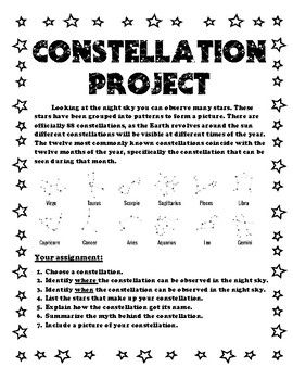 45++ Constellation worksheets for 5th grade Top