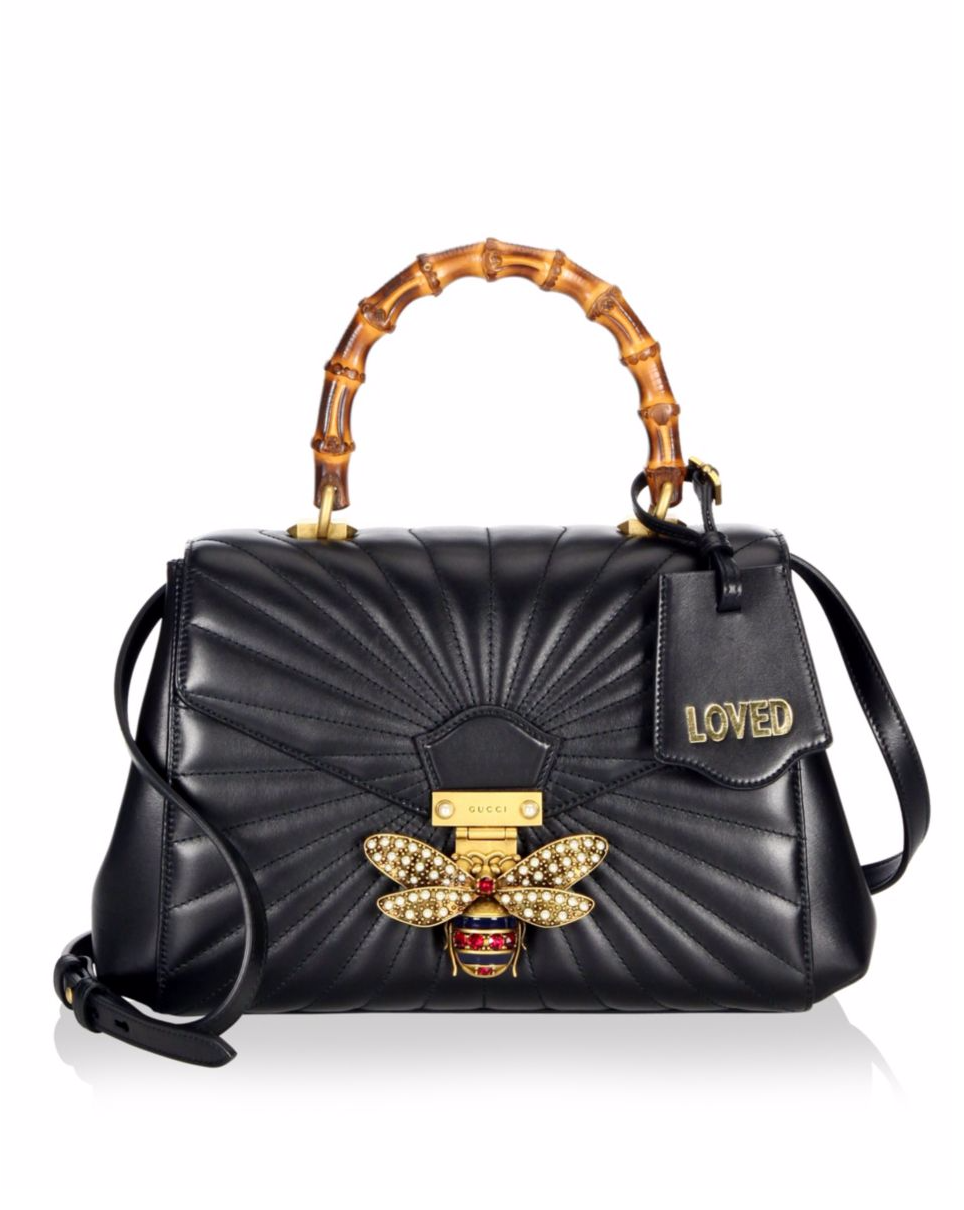 277d8bbe6fc Gucci Queen Margaret Quilted Leather Top Handle Bag